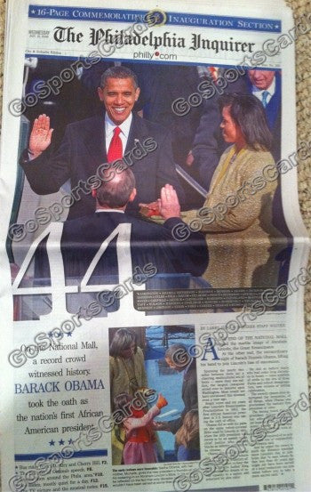 Barack Obama 44th President of the United States Newspaper Philadelphia Inquirer