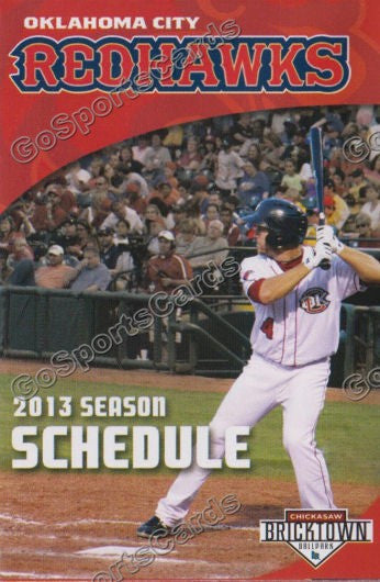 2013 Oklahoma City Redhawks Pocket Schedule (JB Shuck)