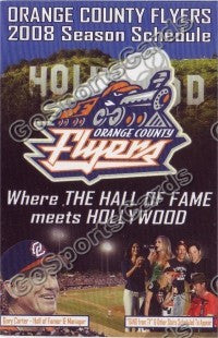 2008 Orange County Flyers Pocket Schedule