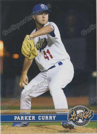 2017 Rancho Cucamonga Quakes Parker Curry