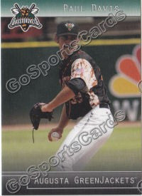 2012 Augusta GreenJackets Paul Davis