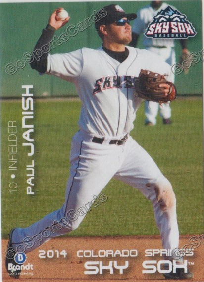 2014 Colorado Springs Sky Sox Paul Janish