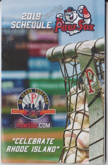2019 Pawtucket Red Sox Pocket Schedule