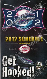 2012 Pensacola Blue Wahoos Pocket Schedule Inaugural Season