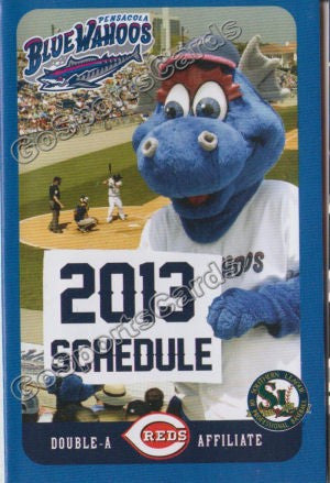 2013 Pensacola Blue Wahoos Pocket Schedule