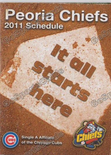 2011 Peoria Chiefs Pocket Schedule