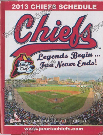 2013 Peoria Chiefs Pocket Schedule