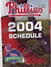 2004 Philadelphia Phillies Pocket Schedule