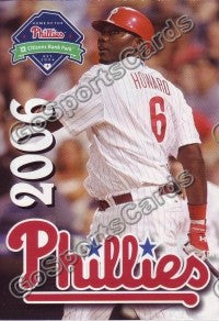 2006 Philadelphia Phillies Pocket Schedule (Ryan Howard)