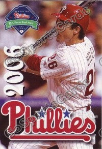 2006 Philadelphia Phillies Pocket Schedule (Chase Utley)