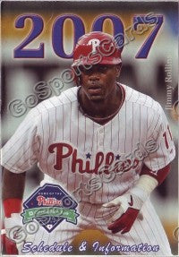 2007 Philadelphia Phillies Rollins Pocket Schedule