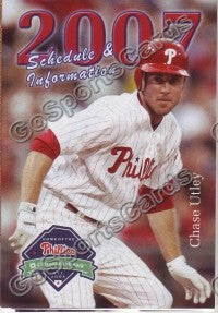 2007 Philadelphia Phillies Pocket Schedule (Chase Ultey)