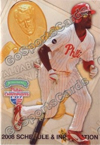 2008 Philadelphia Phillies Jimmy Rollins Pocket Schedule