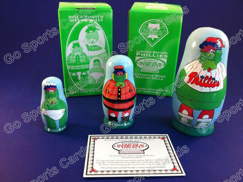Phillie Phanatic Nesting Doll Phoebe & Phred SGA NIB