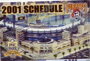 2001 Pittsburgh Pirates Pocket Schedule