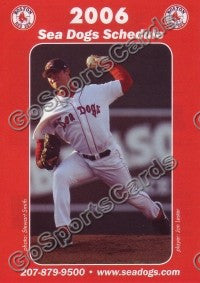 2006 Portland Sea Dogs Pocket Schedule (Jon Lester)