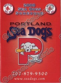 2008 Portland Seadogs B Pocket Schedule