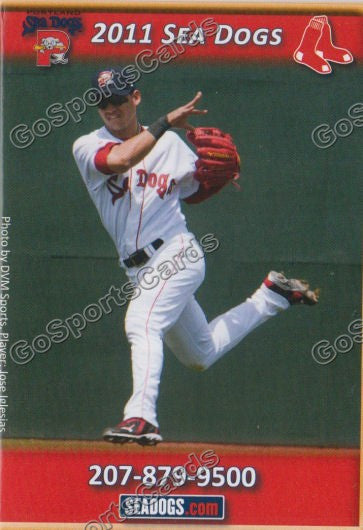 2011 Portland Sea Dogs Pocket Schedule (Jose Iglesias)