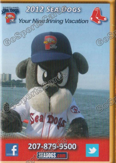 2012 Portland Sea Dogs Pocket Schedule