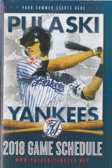 2018 Pulaski Yankees Pocket Schedule