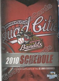 2010 Quad Cities River Bandits Pocket Schedule