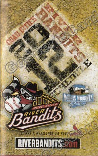 2012 Quad Cities River Bandits Pocket Schedule