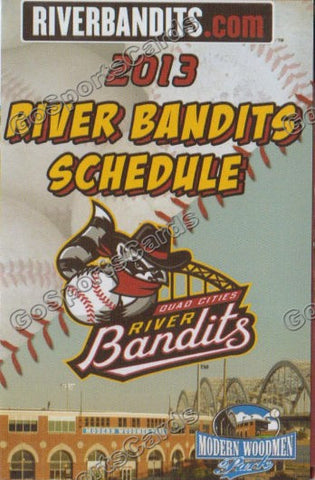 2013 Quad Cities River Bandits Pocket Schedule