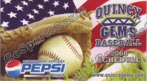 2008 Quincy Gems Pocket Schedule