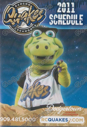 2011 Rancho Cucamonga Quakes Pocket Schedule