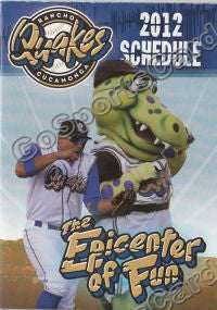 2012 Rancho Cucamonga Quakes Pocket Schedule