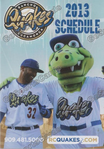 2013 Rancho Cucamonga Quakes Pocket Schedule (Matt Kemp)