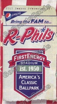 2010 Reading Phillies Pocket Schedule