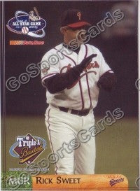 2003 Pacific Coast League All-Star Multi-Ad Rick Sweet MGR