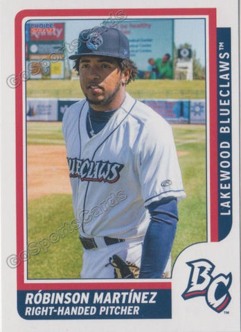 2019 Lakewood BlueClaws Robinson Martinez