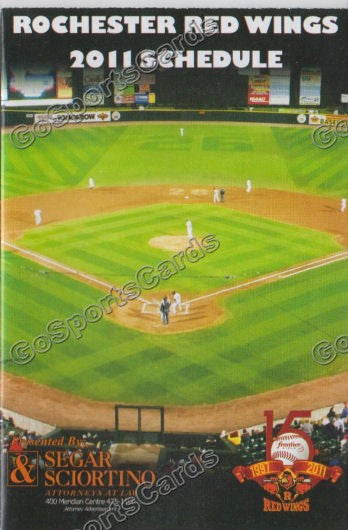 2011 Rochester Red Wings Pocket Schedule