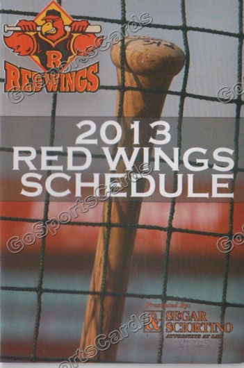 2013 Rochester Red Wings Pocket Schedule