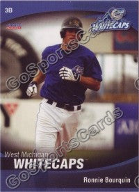 2008 West Michigan WhiteCaps Ronnie Bourquin