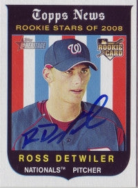 Ross Detwiler 2008 Topps Heritage (Autograph)