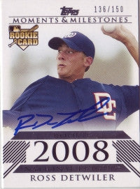 Ross Detwiler 2008 Topps Moments & Milestones 136/150 (Autograph)