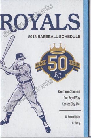 2018 Kansas City Royals Pocket Schedule (50th Anniversary)