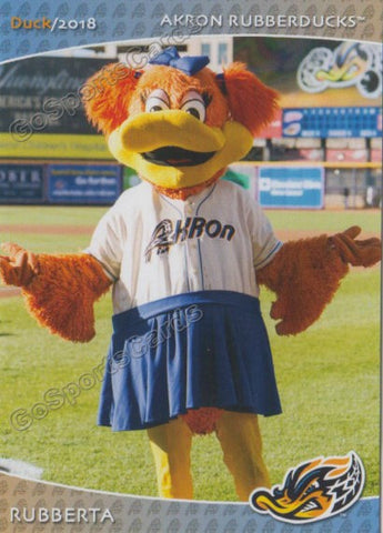 2018 Akron Rubber Ducks Rubberta Mascot