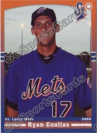 2008 St Lucie Mets Ryan Coultas