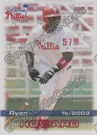 2003 Clearwater Phillies Ryan Howard