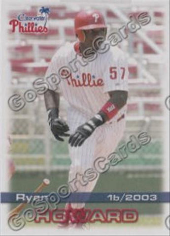 2003 Clearwater Phillies Team Set