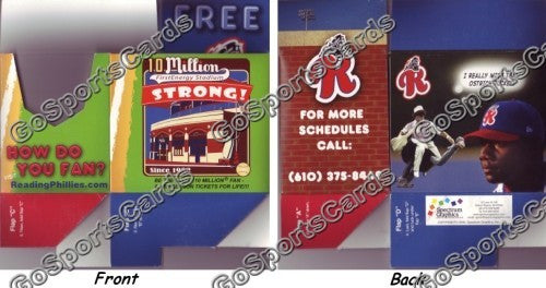 2007 Reading Phillies Pocket Schedule Box (Ryan Howard)
