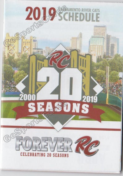 2019 Sacramento River Cats Pocket Schedule