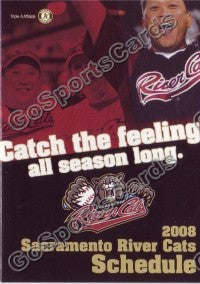2008 Sacramento Rivercats Pocket Schedule