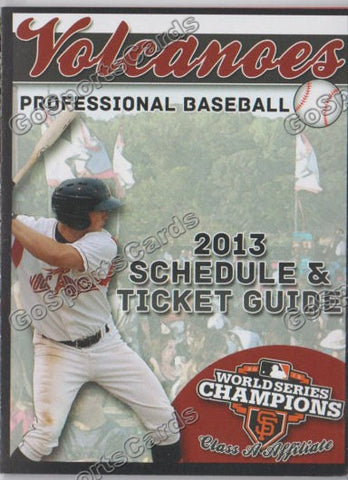 2013 Salem Keizer Volcanoes Pocket Schedule