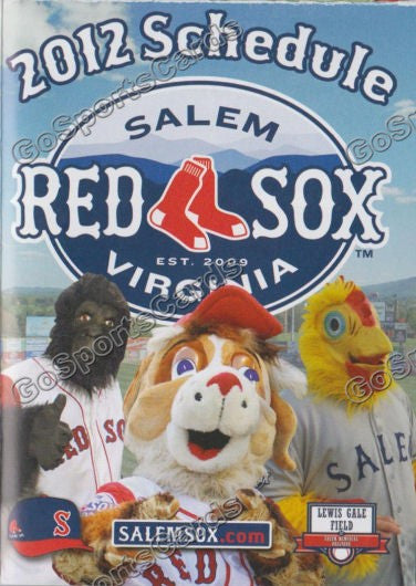 2012 Salem Red Sox Pocket Schedule