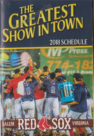 2018 Salem Red Sox Pocket Schedule